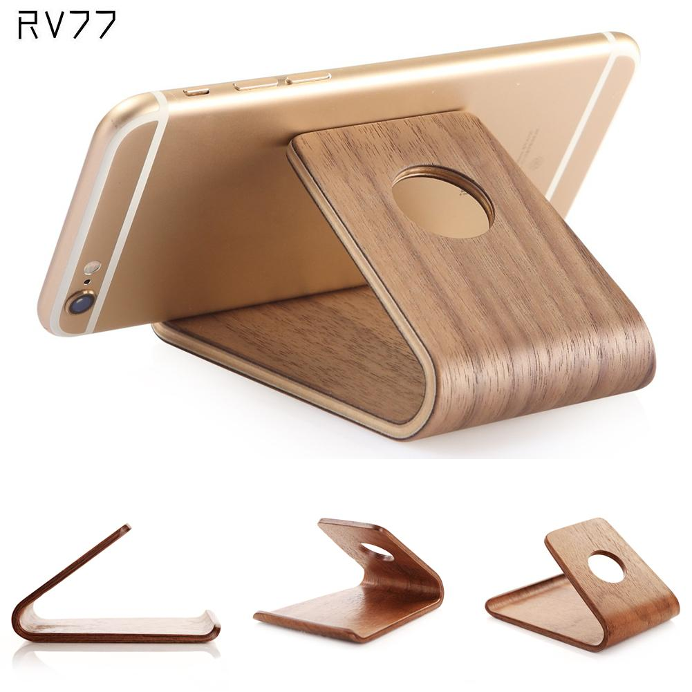 Universal Stand Phone Holder Bamboo Wood Stand Holder for iPad Wooden Stand for iPhone Watch SE 6 6S for Samsung S6 S7 Note5(China (Mainland))