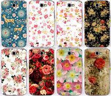 Красочные бриллиант роуз пион красочные цветы красивый фон крышка чехол для Samsung galaxy Note II примечание 2 Note2 N7100