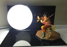 Dragon Ball Z Action Figure Son Gokou Triple Kaiouken Kamehameha Display Toy Dragonball Z Goku Figuras DBZ With Base And Bulb(China (Mainland))