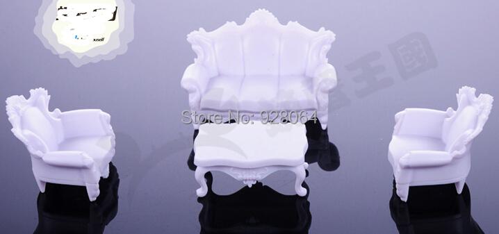 Model sofa set / 1:25 / 1 set 4 / sandbox mold material / DIY craft materials(China (Mainland))