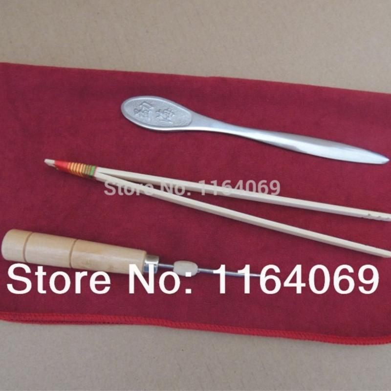 4pcs Tea Accessories Kits Knife with Tea Towel and clips Awl(China (Mainland))
