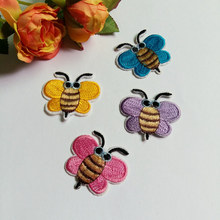 Buy 4pcs 33*38mm bee embroidered patch cartoon Iron Patches clothing jacket garment badge Nice Appliques diy accessory for $1.64 in AliExpress store