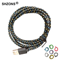 1m 3ft Universal Braided Wire Cable Nylon 8Pin USB Data Sync Charging Cable Cord for iPhone