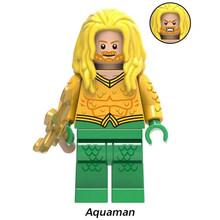 Super heróis oceano mestre aquaman bizarro bizarro modelo bloco de construção figuras ação para crianças presente brinquedos xh844(China)
