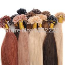 100% настоящие волосы 18 дюймов 20 дюймов 24 дюймов кератин кончик ногтя подсказка волосы прямые волосы 100 S 1.0 г/локон 100 г/лот 12 цветов avalible