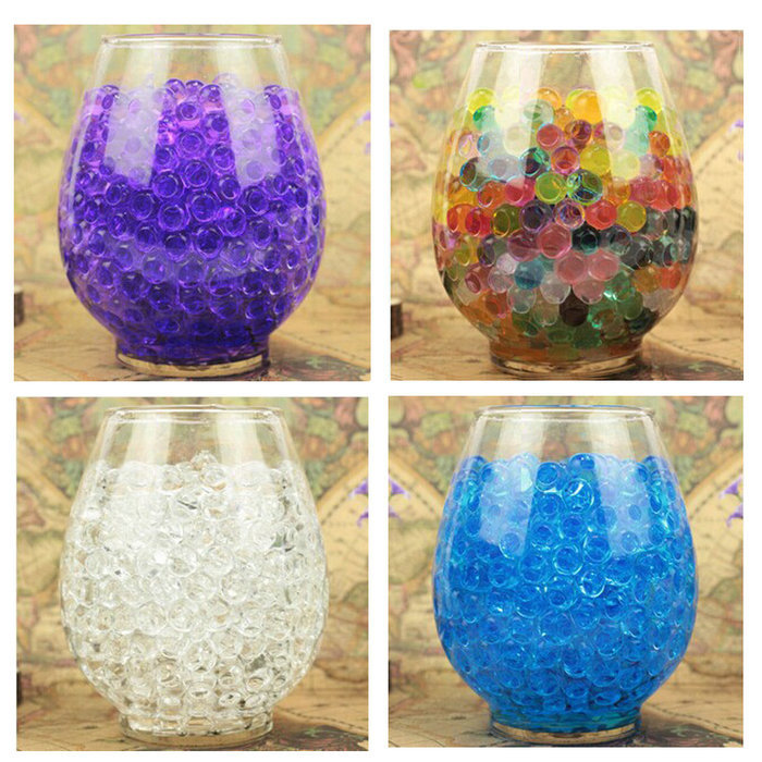 5000PCS Bag Pearl Shaped Polymer Crystal Soil Water Beads Mud Grow Magic Jelly Gel Balls Home