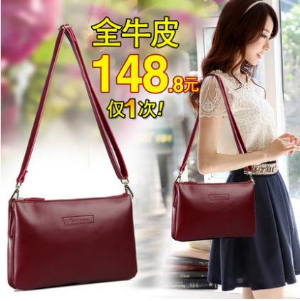 Hot 2015 Women's Messenger Bag Genuine Leather Handbag Shoulder bag lady CrossBody Bag Satchel Purse Tote Bolsas(China (Mainland))