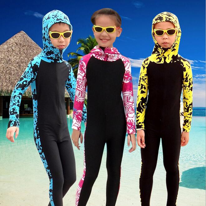 Sun Protection Children swimwear Boy swimsuit Girl swim suit Child bathing suit Child Diving Suit Wetsuit Rash Guard Beach Cloth(China (Mainland))