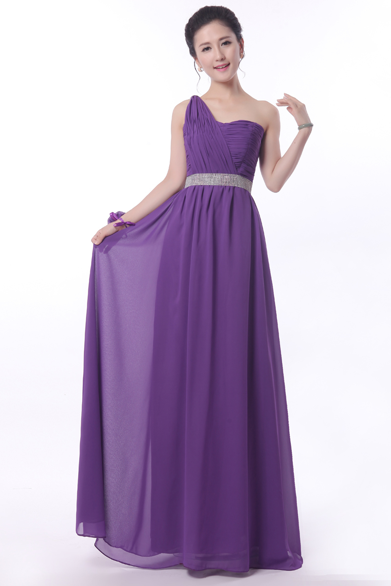 Royal purple dresses the image kid has it for Purple wedding dresses for bridesmaids