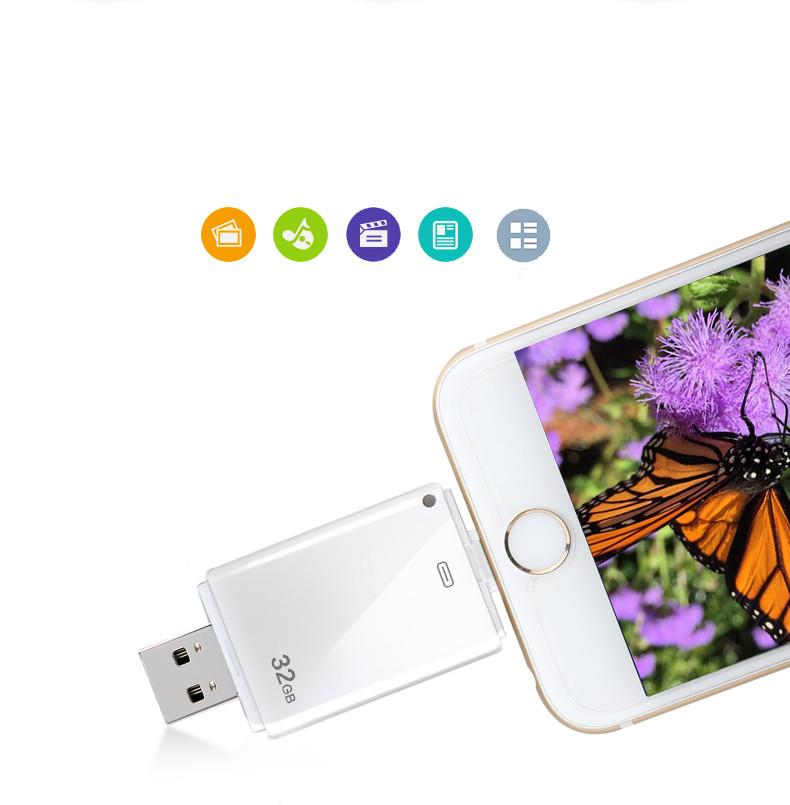 Newset! i-Flash Driver HD U-disk Lightning data for iPhone/iPad/iPod,micro usb interface flash drive for PC/MAC 8G/16G/32G/64G(China (Mainland))