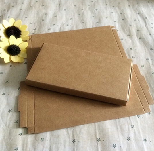 14.9*7.7*1.1cm Kraft Paper gift Boxes/ Retail Handmade flat Gift Packaging Boxes(China (Mainland))
