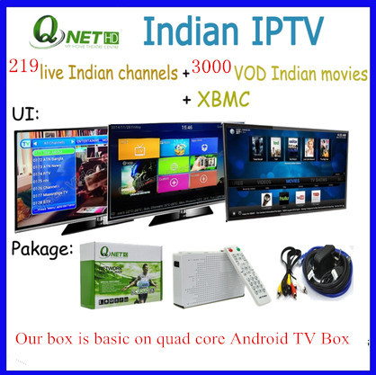 HD Indian IPTV Box Turkish IP TV Channels Android TV Player Free Watching(China (Mainland))