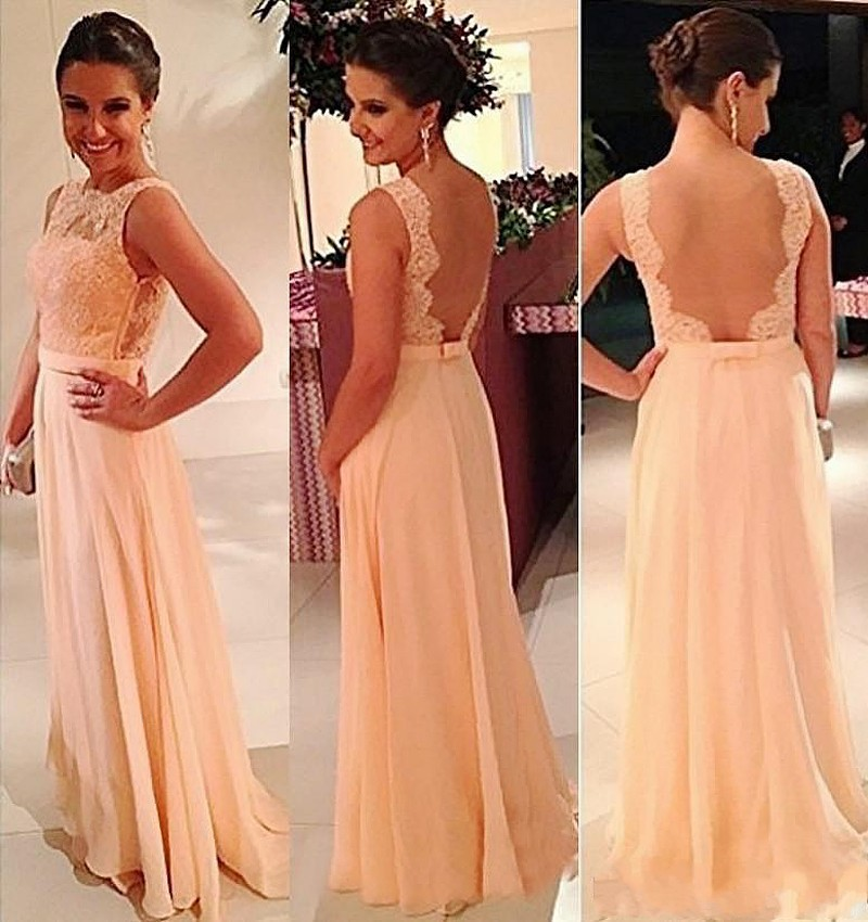 High Quality Peach Lace Bridesmaid Dress Promotion-Shop for High ...