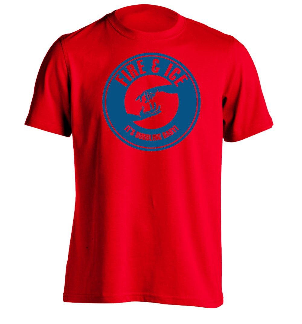 fire ice mens custom t shirt design tee in t shirts from
