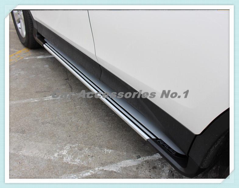 Car logo Aluminum alloy Running Board Side Step Nerf Bar For Toyota RAV4 2013 2014 2015 2016 Free by DHL Fedex Pedal(China (Mainland))