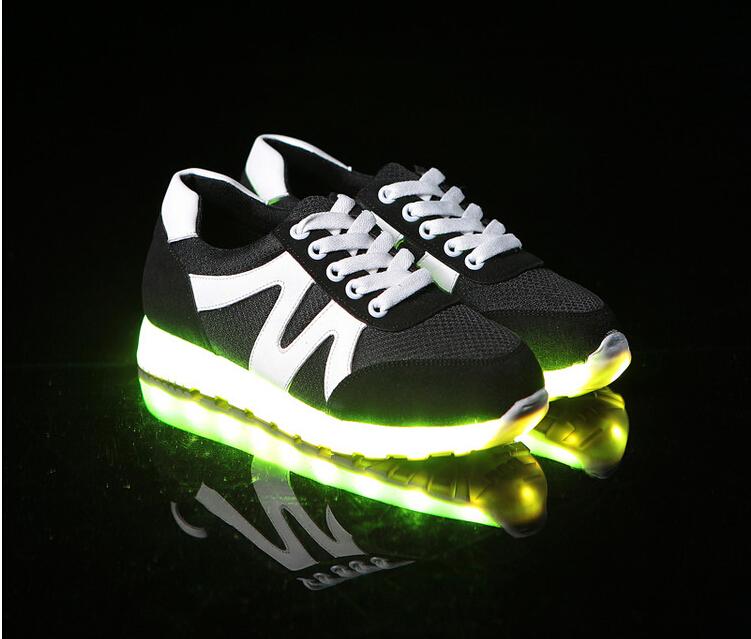 Fashion Glowing Shoes 7 Colors LED luminous unisex casual shoes Men Women   Flat Recharge USB rechargeable Luxury Light Shoes<br><br>Aliexpress