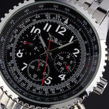 Jargar reloj mecánico tira 6 aguja para hombre moda completamente automática reloj de hombre j011