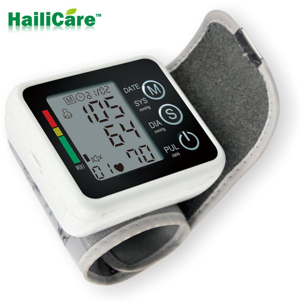 Christmas Gift Automatic Tensiometros Digital Wrist Blood Pressure Monitor meter blood pressure measurement Sphygmomanometer(China (Mainland))