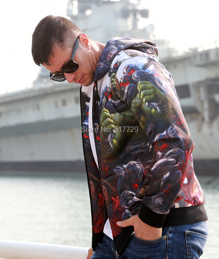 Mens Coat Hero First Brand Men The Avengers Hoodies And Sweatshirts Sreetwear Casual Polo Hoodie Sports Jacket For Autumn Winter(China (Mainland))