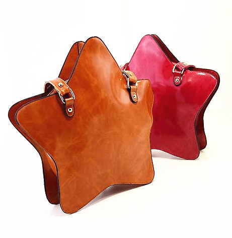 Designer big brown star bag vintage women clutch solid leather shoulder bags with strap 5 colors bolsos mujer bolsa de praia(China (Mainland))