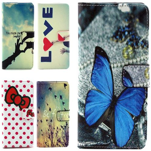 Stand Design PU Leather font b Phone b font Case For Samsung Galaxy grand neo i9060