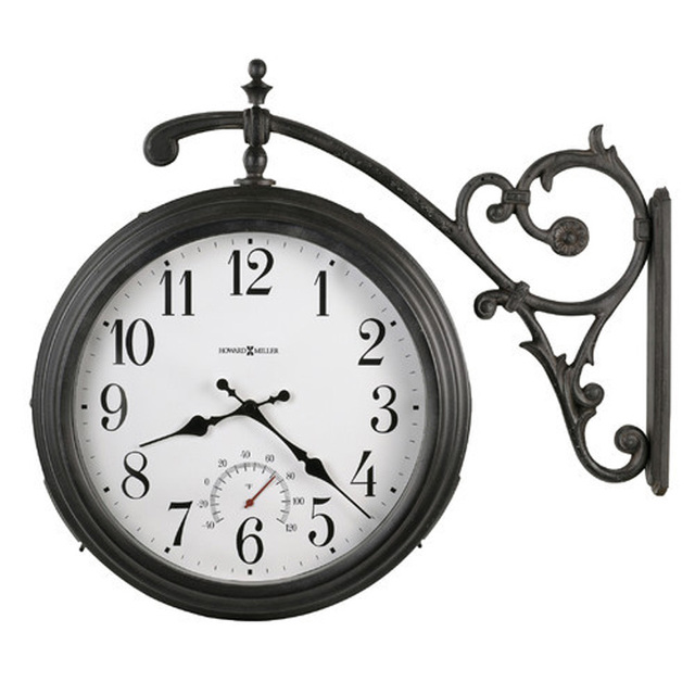 Fashion vintage - double faced big wall clock indoor outdoor waterproof quality double faced clock wall clock