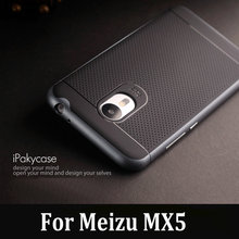 Original iPaky Brand Meizu MX5 Case Luxury Fashion Armor Silicone Back Cover with Frame for MX5