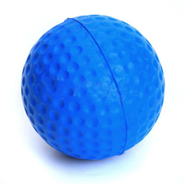 10pcs/pack Soft Indoor Practice PU Blue Golf Balls Training Aid Blue(China (Mainland))