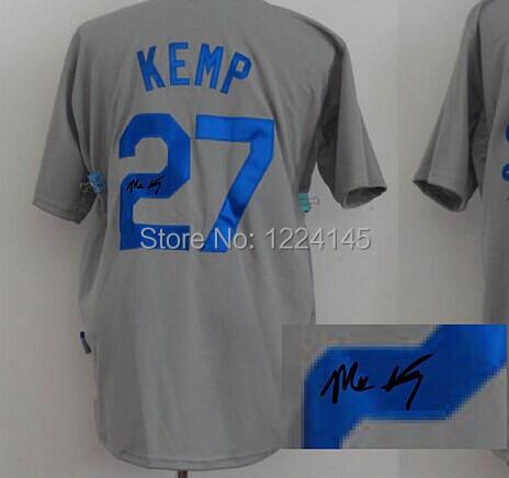 Kemp Autographed Matt Kemp Grey Autographed