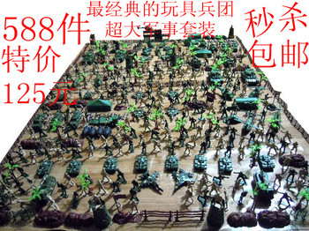 Small world war ii soldier set 588 model boy toy birthday new year gift