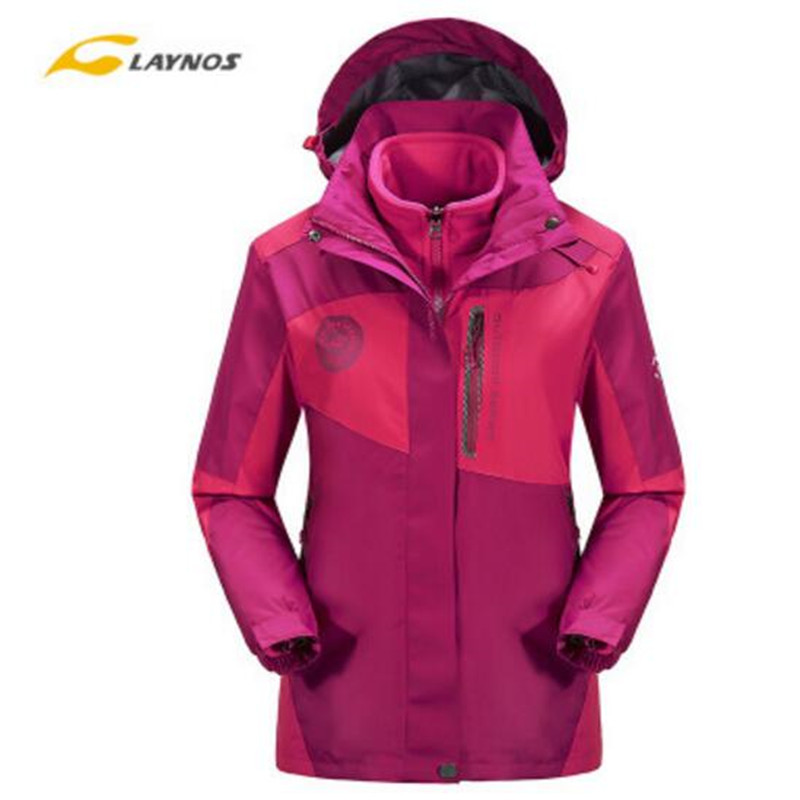 Free Shipping--2016 Laynos NEW  Womens Spring/Autumn/Winter Outdoor Fashion Color Matching Waterproof Windproof Hooded Jackets<br><br>Aliexpress