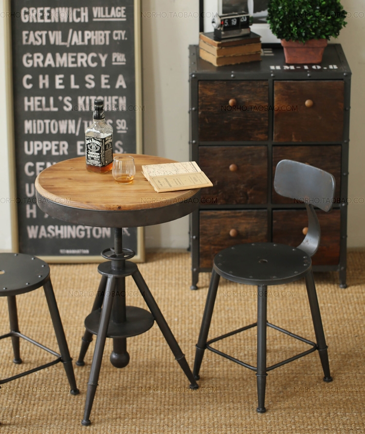 country style retro industrial wrought iron dining chairs bar chairs