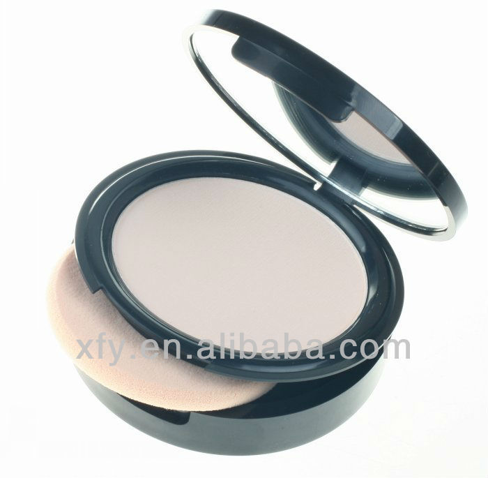 1pcs high quality professional makeup compact pressed face powder plus Studio Fix Powder+puffs(China (Mainland))