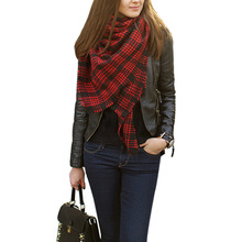 Winter 2015 Tartan Scarf Plaid Scarf New Designer Unisex Acrylic Basic Shawls Women's big size Scarves