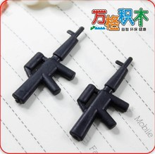 Compatible With Legao Assembles Particles Block Toys,Plastic brick parts S141A,100pcs/lot,submachine gun,free shipping(China (Mainland))