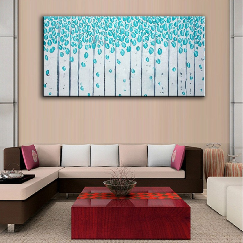 Buy Hand Painted Oil Painting Home Decoration High Quality Canvas Flower Knife Painting Pictures        NOFramework cheap