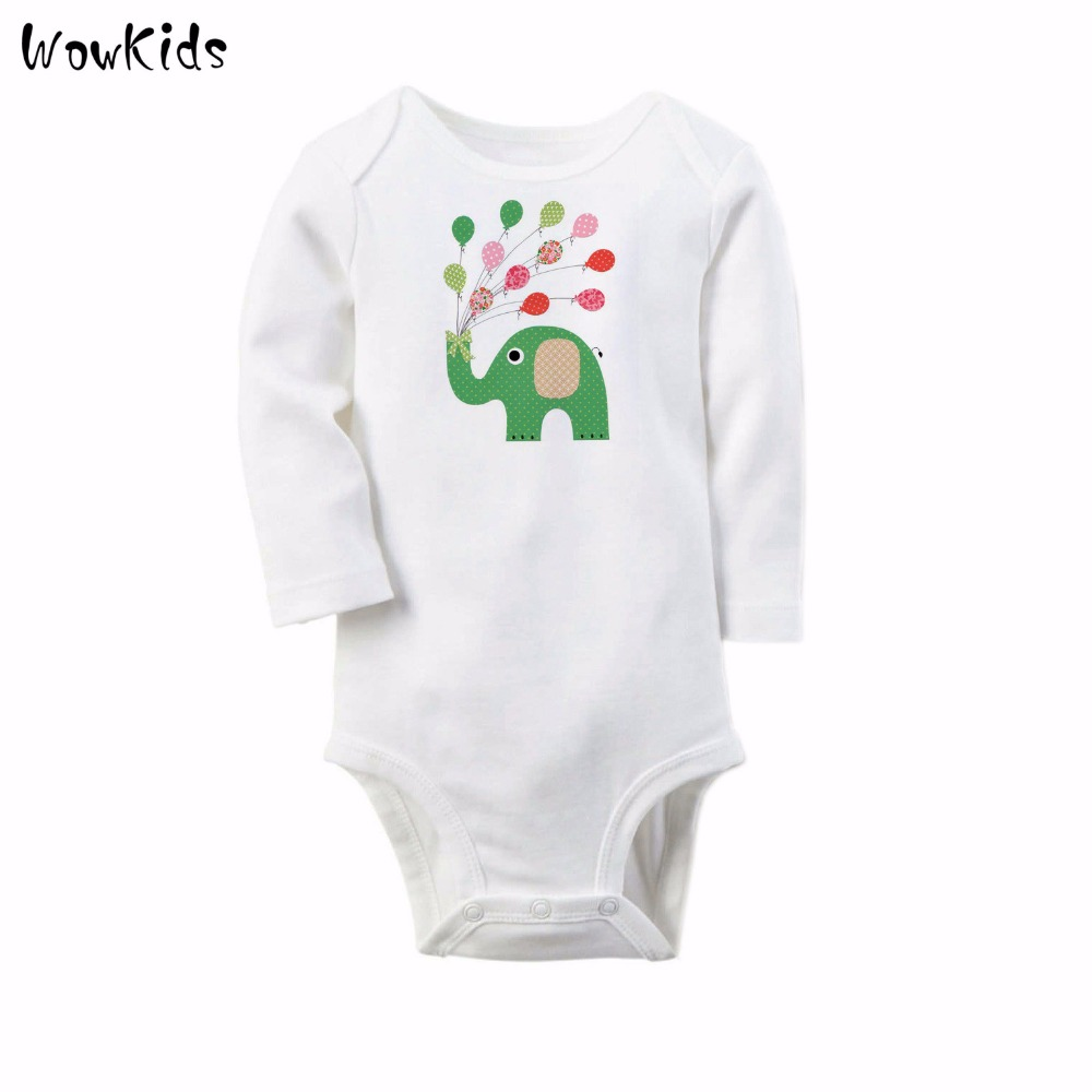 Brand Baby Rompers Newborn Winter Body Bebe Long Sleeve Baby Boy Elepant Cartoon Clothing Baby Girl Overall for Infants Clothes(China (Mainland))
