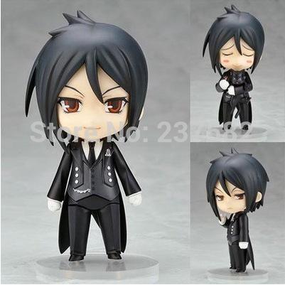 Japanese Anime Figures Nendoroid Black Butler Sebastian Michaelis PVC Action Figure Model Toy 10cm(China (Mainland))