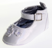 SanFu--Or117 baby girl white leather first-walkers shoes toddler and home shoes size 2 3 4 in US freeshiping(China (Mainland))