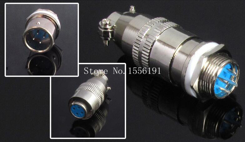 5 sets kit 4 PIN 12mm XS12 4 Screw Aviation Connector Plug XS12J4Y XS12K4P The aviation