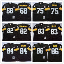 Men's Throwback Sport Shirt Merril Jerome Hoge Troy Bettis Mel Polamalu Mike Blount Antonio Hines Webster Ward T-Shirt(China (Mainland))