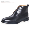 ELANROMAN Luxury mens shoes Italian Design Height Increasing Genuine Leather Mens Boots Business Comfortable Round Toe