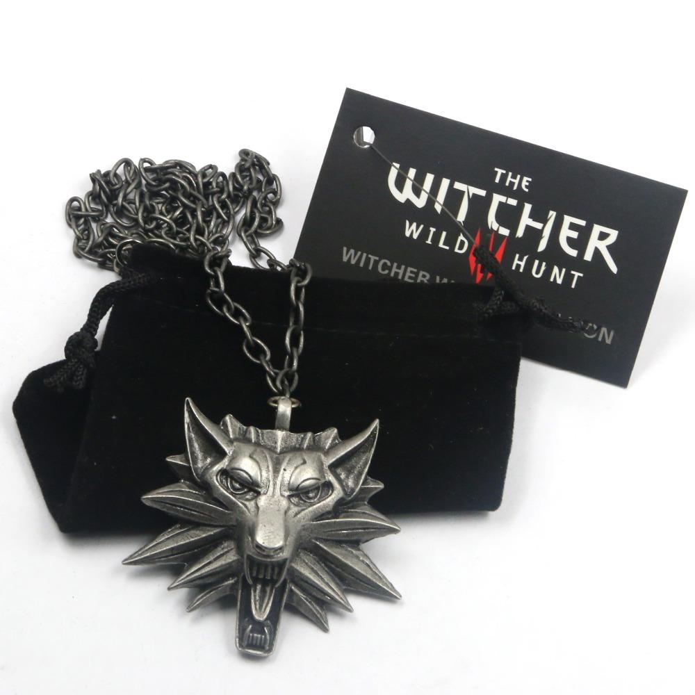 Гаджет  Top quality the Witcher pendant / wizard Witcher 3 medallion pendant 2015 necklace / the wild hunt 3 figure game+ wolf amulet None Ювелирные изделия и часы