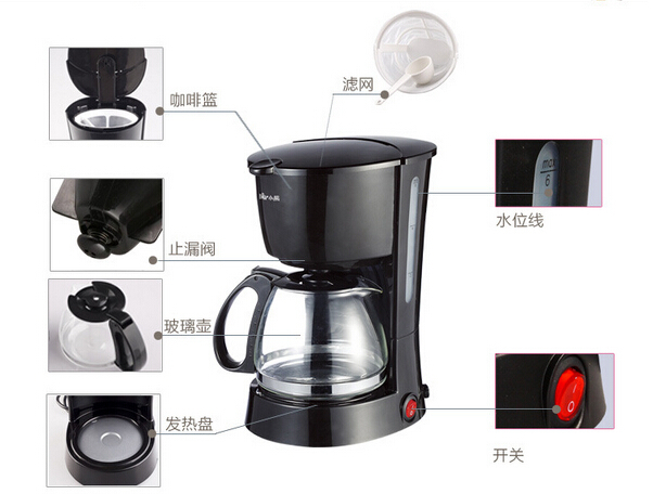 Drip Coffee Maker Reviews 2015 : New 2015 automatic drip coffee maker machine tea machine cooking home appliance-in Coffee Makers ...
