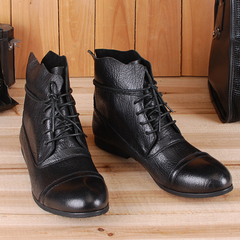 On sales! Genuine Leather Mens cowboy boots, Korean fashion casual shoes ,leather cool boots(China (Mainland))
