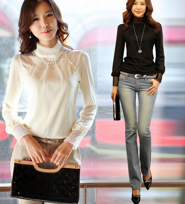 autumn o-neck body white lace blouse shirt blusa women blouses shirts womens tops fashion 2015 blouses buy direct from china(China (Mainland))