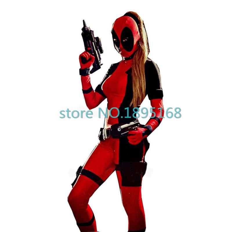 2016 Cool Deadpool Costume Women Marvel Superhero Costumes - Super Cool Halloween Costumes