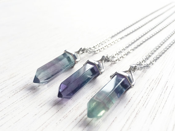 Natural Point Crystal Charms Fluorite Point Pendant for Necklace Earrings Making, Hexagonal Chakra Crystal Quartz Pendant FD3(China (Mainland))