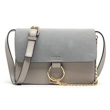 2016 New Patchwork Chain Handbag Suede PU Leather Top Quality Fashion Women Bags Ladies Flap shoulder