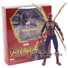 Vingadores Marvel Infinito Guerra Ferro Aranha Spiderman PVC Action Figure Collectible Modelo Toy(China)
